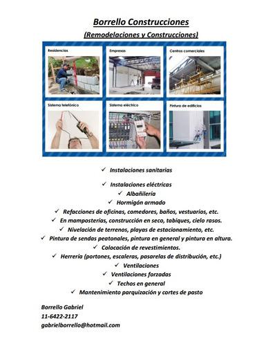 construcciones remodelaciones mantenimento