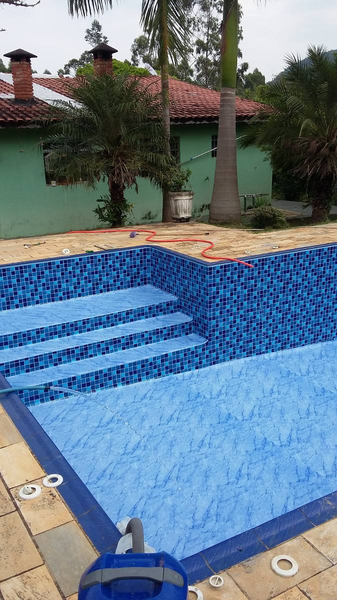 Constru o de piscina de vinil 8 x 4 x 12 x sem juros for Piscina 4 x 2