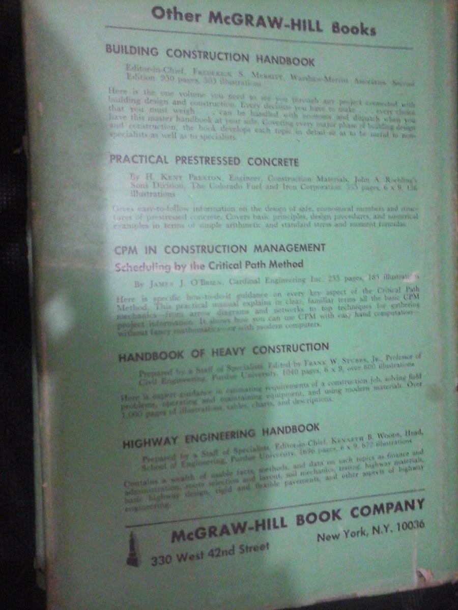 Construction Estimates And Costs H E Pulver 1960