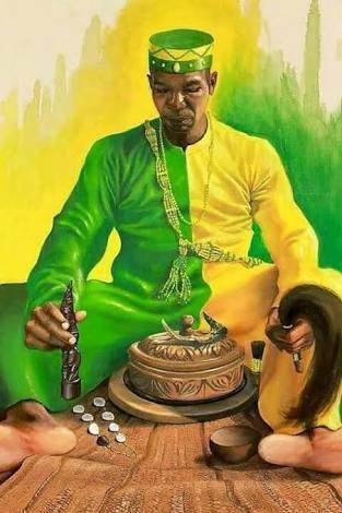 consulta con un babalawo de religión yoruba