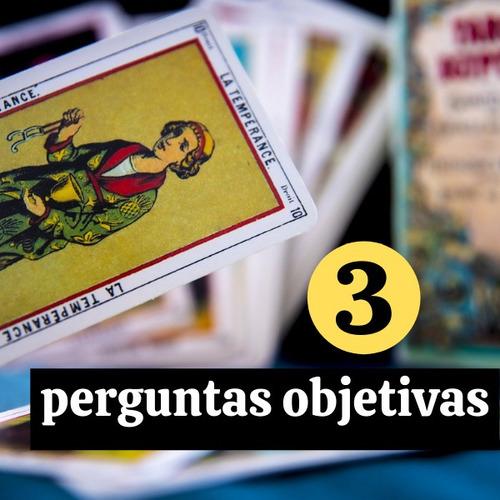 consulta de tarot (leitura de cartas) - 3 perguntas