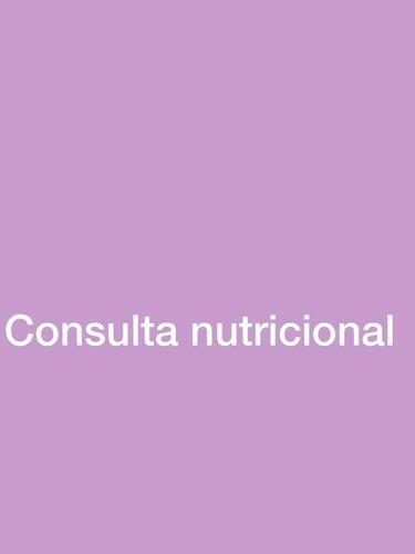consulta nutricionista asesoría nutricional