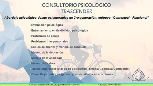 consulta y terapia psicológica en lima - trascender
