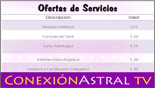 consultas de tarot, cartas astrales y terapias holisticas