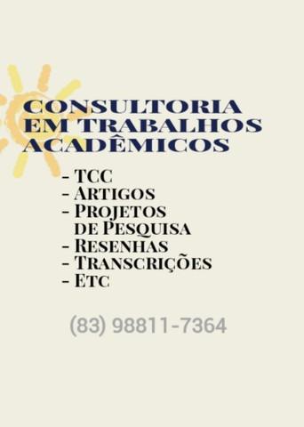 consultoria acadêmica (projetos, artigos, tcc's)