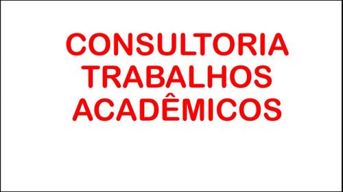 consultoria em tcc, monografias, mestrados e artigos