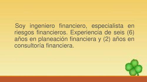 consultoria financiera