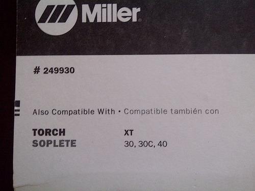 consumible miller escudo de arrastre 249930 plasma (30verds)
