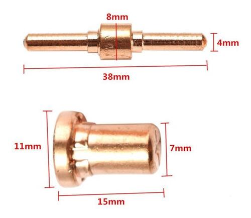 consumibles  largos plasma cut30/40 electrodos y nozzle pt31