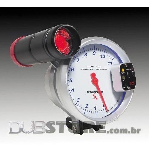 conta-giros metrika c/ shift light 11m rpm 5