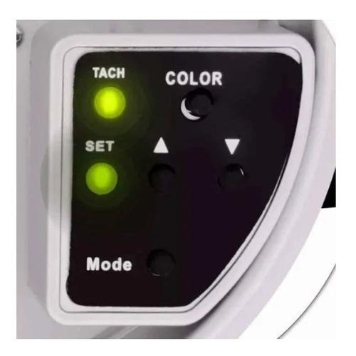 conta giros rpm led 10 cores regulagem digital - branco