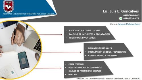 contabilidad, auditorias e impuestos nacionales y municipal