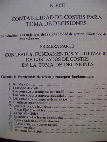 contabilidad de costes para toma de decisiones - josep m.