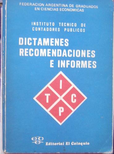 contabilidad: dictamenes recomendaciones e informes / 1981