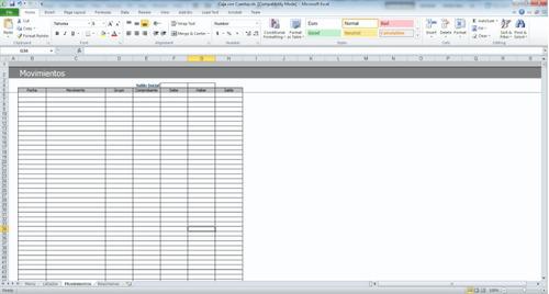 contabilidad en excel