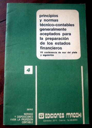 contabilidad estados financieros principios normas macchi
