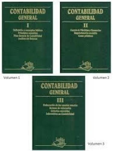 contabilidad general, 3 tomos!