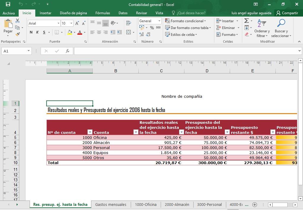 Contabilidad Plantillas En Excel Para Tu Empresa Trabajo - Bs ...