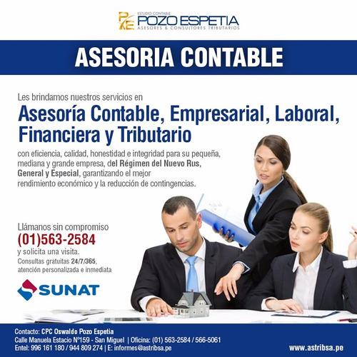 contabilidades,declaracion de impuestos ,asesoria tributaria