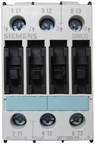 contactor 17 a bobina 24v 7,5kw 10cv siemens 3rt1025-1ac20