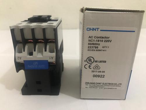 contactor 18 amp 220 volts marca chint modelo nc1-1810