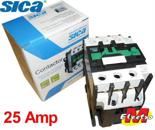 contactor 25a  1na 220v ctr-2510 sica electro medina