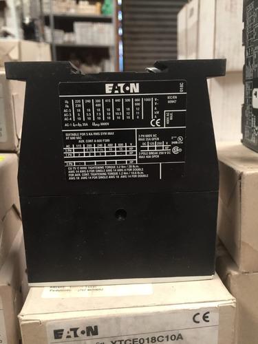 contactor 3 polos, 18 amp eaton xtce018c10a