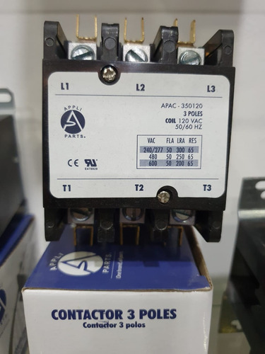 contactor 3 polos 50a amperes bovina a 110 volts