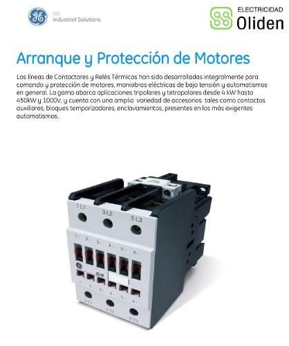65ad5de205dee Contactor 3 X 32a 1na 230v 16kw General Electric Europa ...