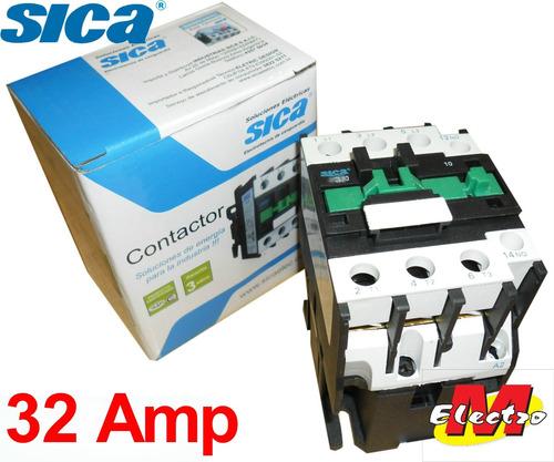 contactor 32a  1na 220v ctr-3210 sica electro medina
