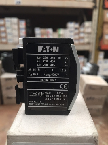 contactor auxiliar frontal eaton xtcexfbg20