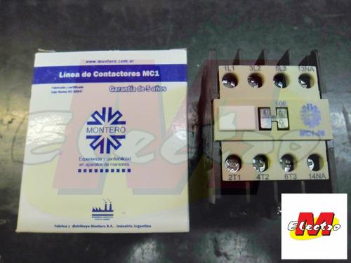 contactor bobina 220v 9a mc1-9  montero  electro medina