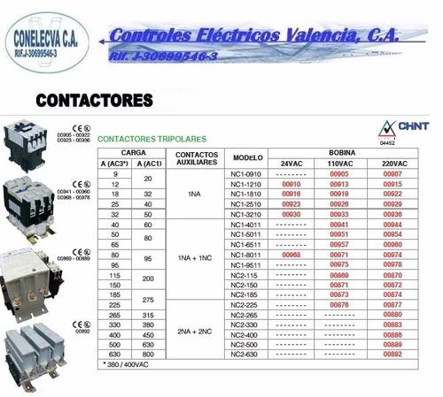 contactor chint de 115  amp hasta 225 amp bobina 220 vol