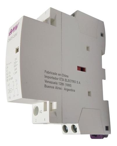 contactor modular 1 din bipolar 25a 220v baw