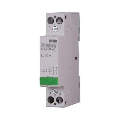 contactor modular bipolar 25a bobina 220v 24v iskra 1 modulo