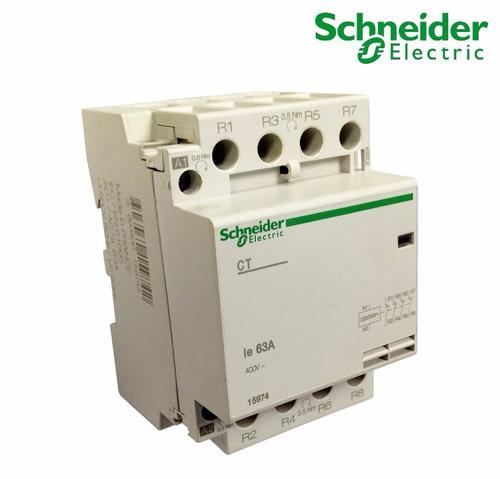contactor modular schneider, ct 63a 4nc 230v, ref. 15974