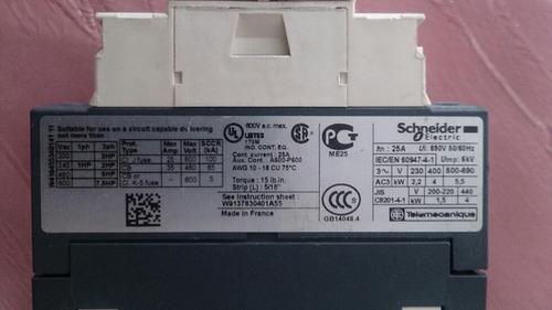 contactor schneidar lc1d09