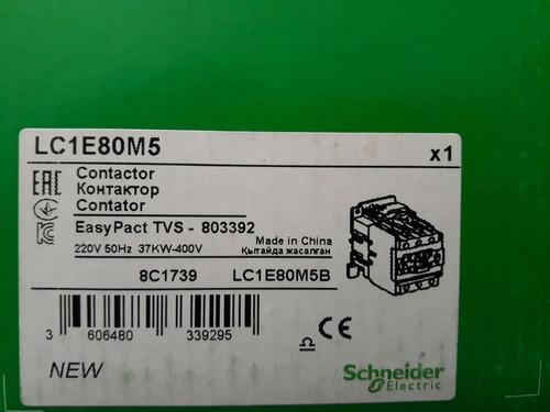contactor schneider bobina 220v 80amp lc1e80m5 1nc 1 no