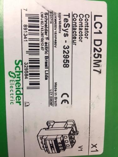 contactor schneider electric 25a bobina 220v