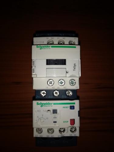 contactor schneider lc1 d18 y relé térmico schneider ldr 14