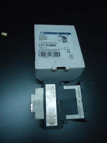 contactor schneider lc1d25bd / bobina 24 vdc / 11 kw @380v