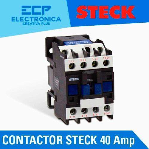 contactor steck 40 amp con bobina 220 -240v