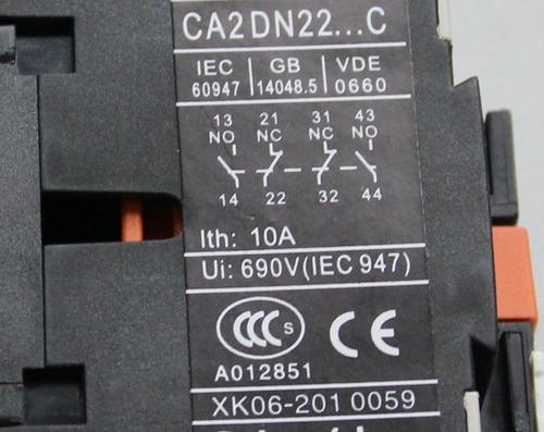 contactor telemecanique ca2-dn22 220-240v ac 10 amp 4 polos