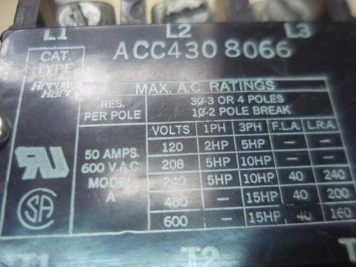 contactor trifasico general  electric de 50 amp y marcas var
