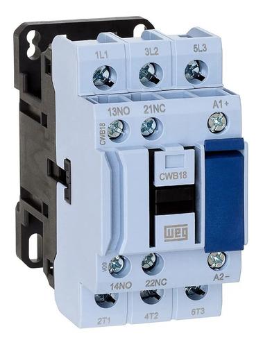 contactor tripolar 18 amp ref: cwb18 marca weg