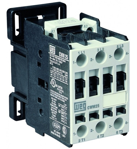 contactor tripolar weg cwm 65 amp. bobina ca o cc
