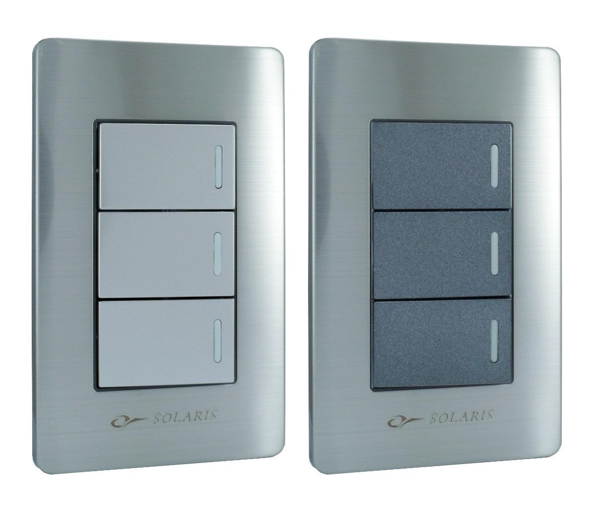 Contactos y apagadores placas armadas en acero inoxidable - Placa de acero inoxidable ...