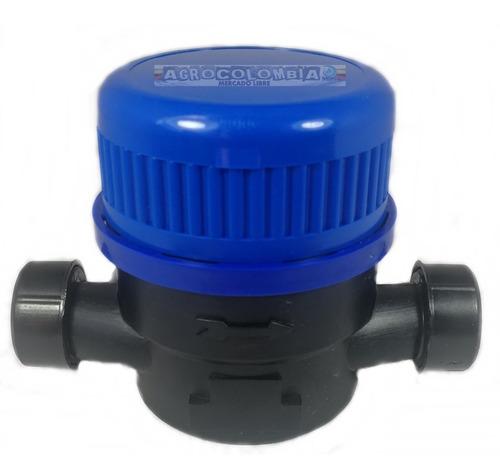 contador agua chorro único 1/2 plástico