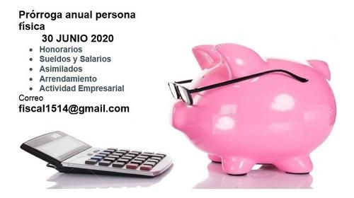contador ,anuales,sat,impuesto p moral, física actualización