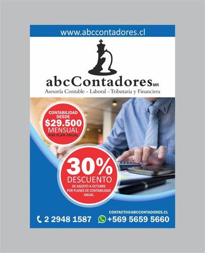contador auditor (colegiado) ing. comercial desde 1 uf